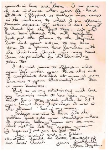 Letter to Brian Houston 1992 Page 5