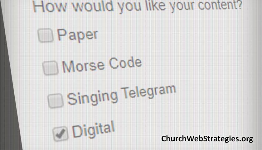 Be a Digital by Default Church