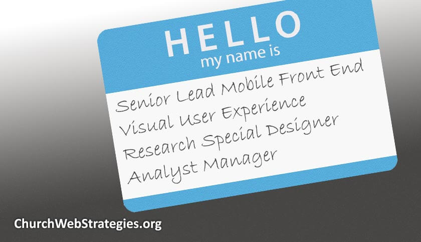 name tag making fun of web job titles
