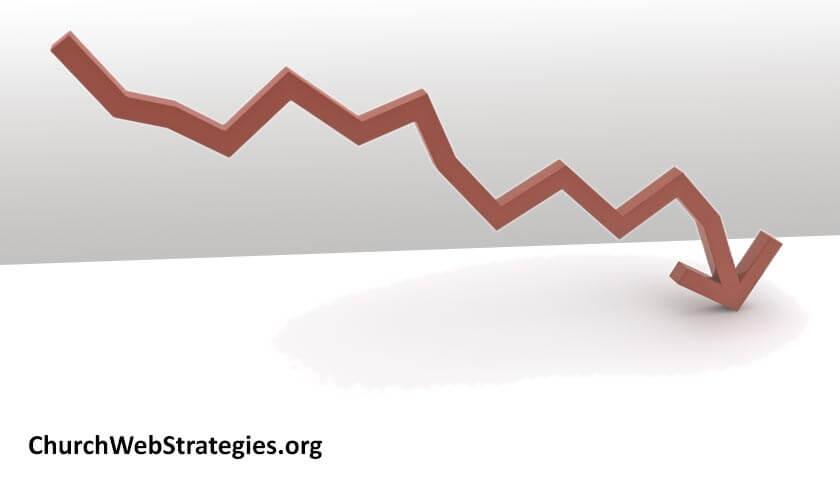 graph arrow trending downward
