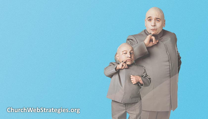 Dr. Evil and Mini Me from Austin Powers movie