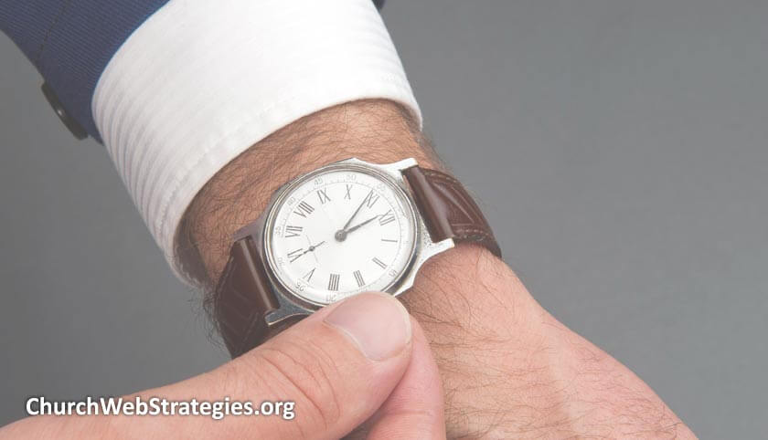 close-up of man's watch on wrist