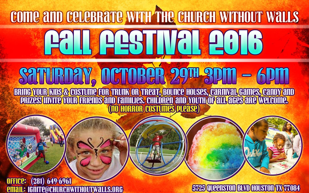 Fall Festival – This Saturday, October 29th, on Queenston Campus