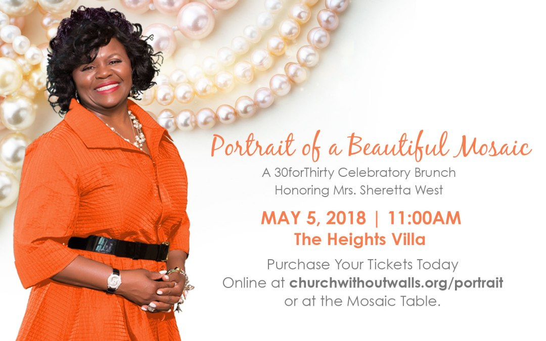 Join Us for Portrait of a Beautiful Mosaic As We Celebrate Mrs. Sheretta West