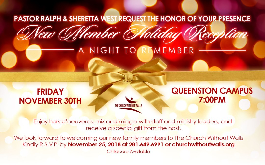 Register Now for the New Member's Holiday Reception