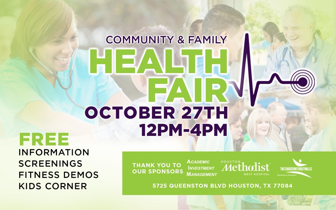 Your are Invited to Join Us at the Community & Family Health Fair