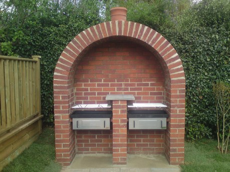 Feature brick BBQ.