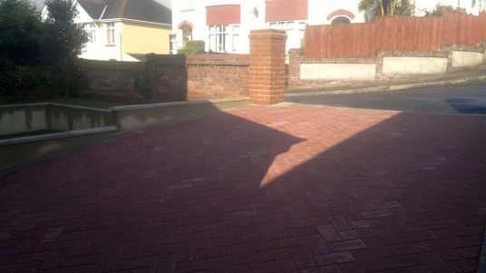 Churston Builders driveway and front garden rebuild