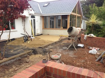 Landscaping and extension Brixham 15