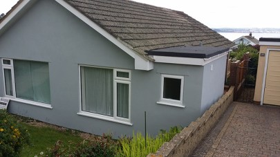 Extension, fascias and rendering complete.