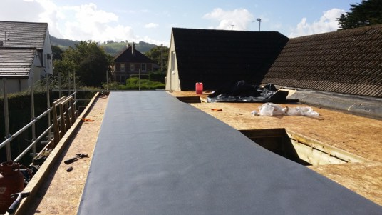 EPDM roof system.