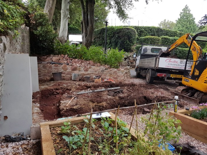 Churston Builders - Decorative garden Orangery structure base 1