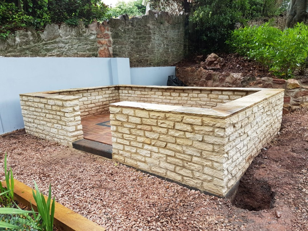 Churston Builders - Decorative garden Orangery structure base 4