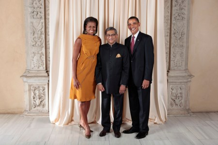 Photo of EAM with President Obama on 23 Sept 09