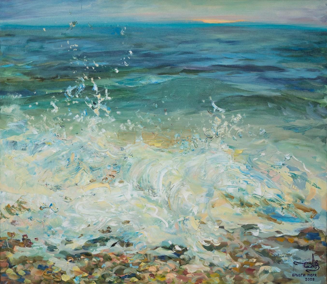 Sea spray 2009 oil on canvas 70*80