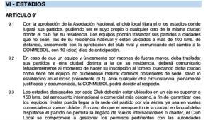 Regulamento Libertadores 2017 estádio