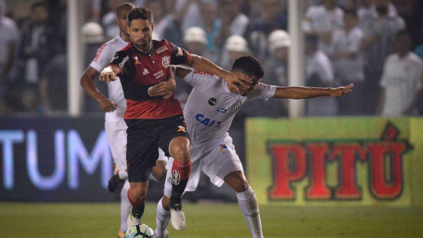 Diego Santos Vila Belmiro Copa do Brasil Flamengo 2017