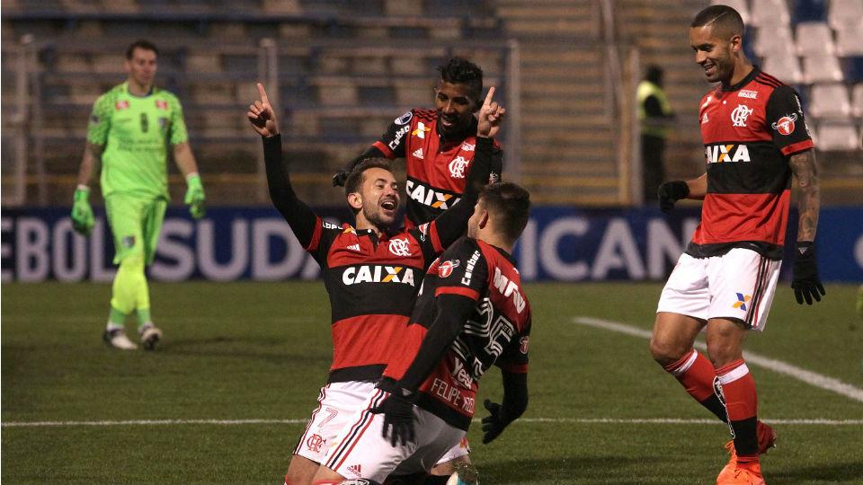 Everton Ribeiro primeiro gol Flamengo Palestino 2017