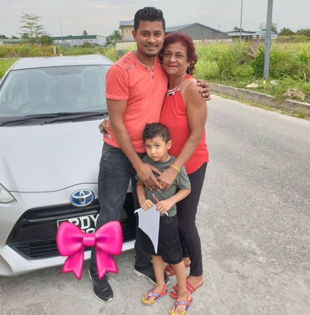 Early Mother's Day for Rick Ramoutar's Mom