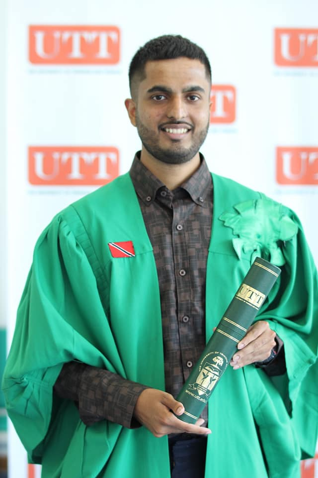 Govinda Ramlogan Graduated With A Bachelor's Degree In Science