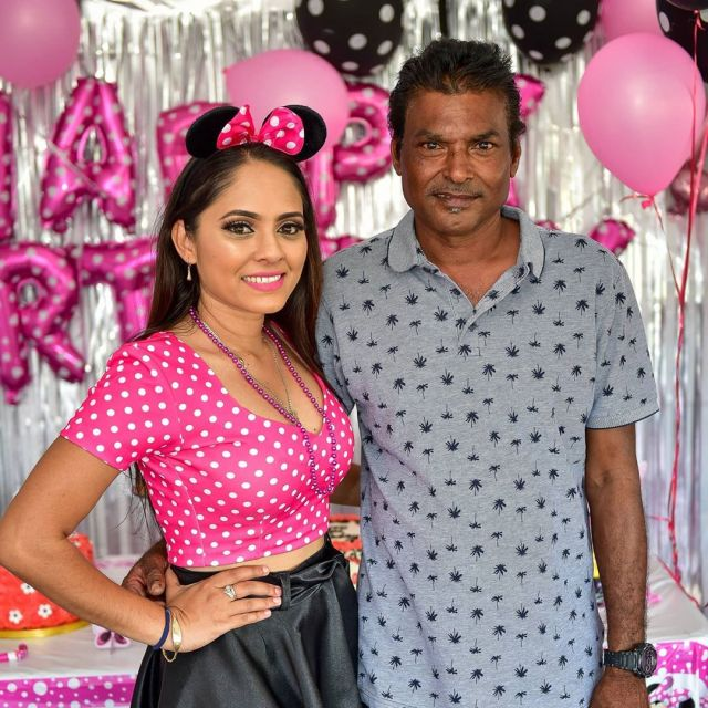 Leann Dass Maharaj And Her Father