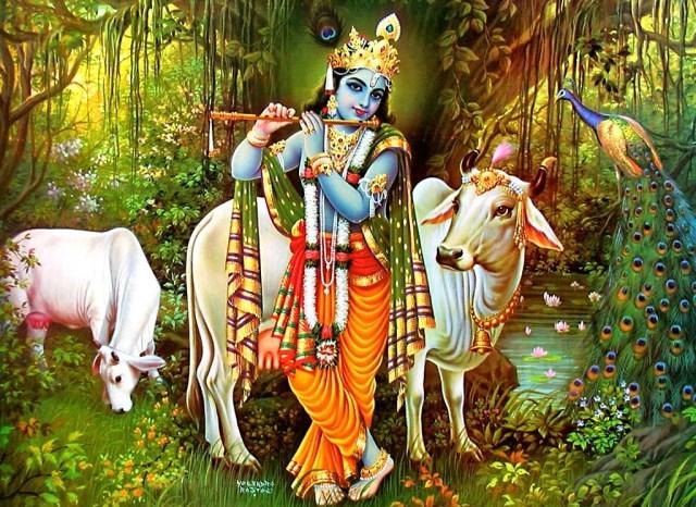 Lord Krishna Achyutam Keshavam Krishna Damodaram
