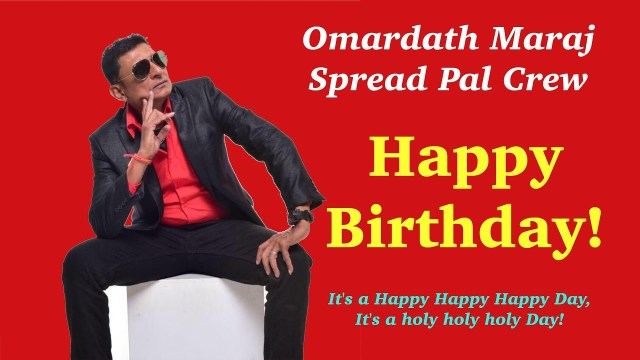 Omardath Maraj Happy Birthday