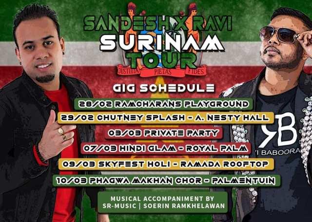 Ravi Babooram & Sandesh Sewdien announce their 2020 Suriname Tour