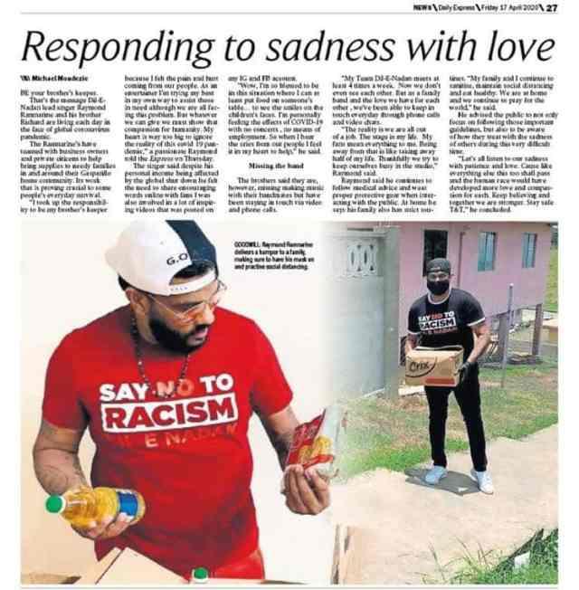 Raymond Ramnarine Responding To Sadness With Love