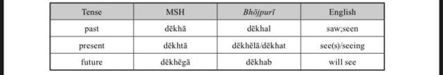 Tenses in MSH and Bhōjpurī