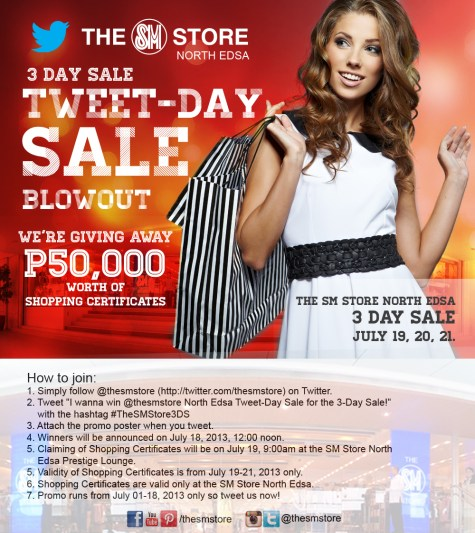 SMNE Tweet-Day Sale