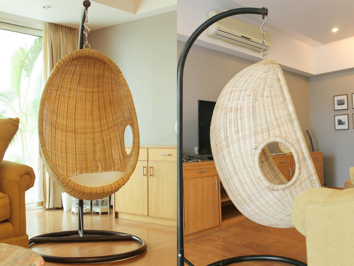 Room Swing Chair Swing Rattan Chair In India Living Room Before And After
