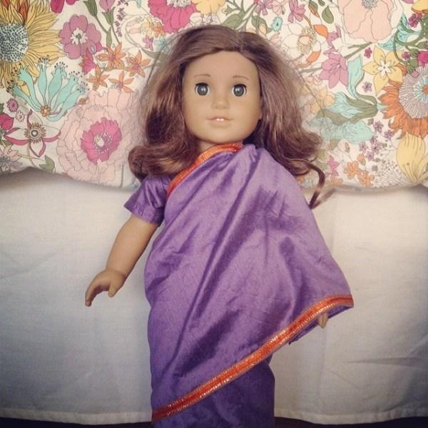 American Girl Doll in Sari