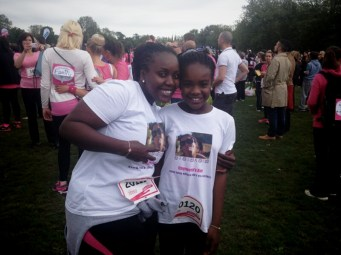 The leisurely runners: LL & her beautiful daughter A who ran and managed to raise £80 by herself! Amazing!