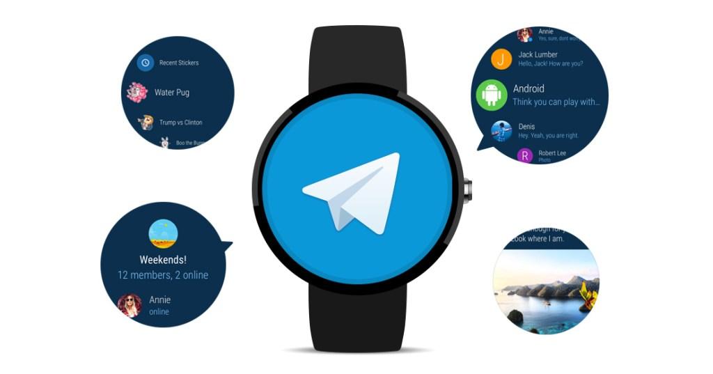 Aplikace Telegram je nyní dostupná na Android Wear 2.0