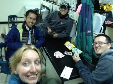"All work and no play makes researchers very dull indeed! These guys beat me hands down at catching frogs, but at least I could give them a run playing ""UNO""! Even if I kept forgetting how to say the colours in Mandarin..."