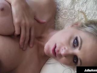 Hot Mom Next Door Julia Ann Stuffs A Lucky Cock Into Her Wet Willing Mouth!