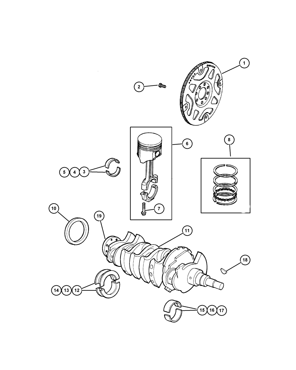 medium resolution of  chrysler 2005 tj jeep wrangler 24l engine