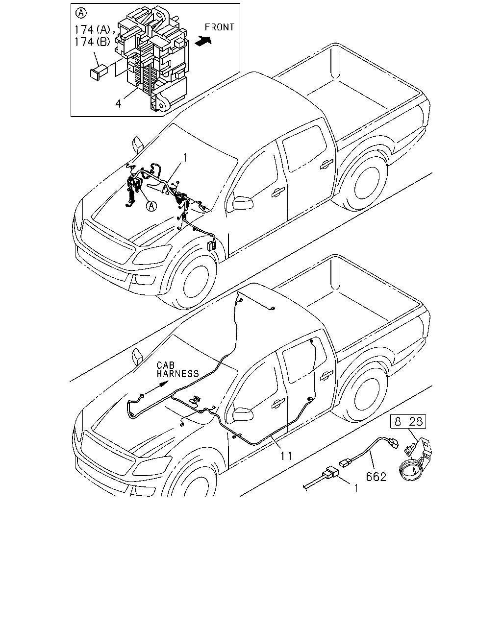 A tfb5cf 4x2 extended cab long