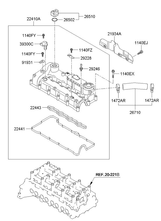 2013 All, 2013 SPORTAGE 10 (2010-2013), ENGINE, 20224B