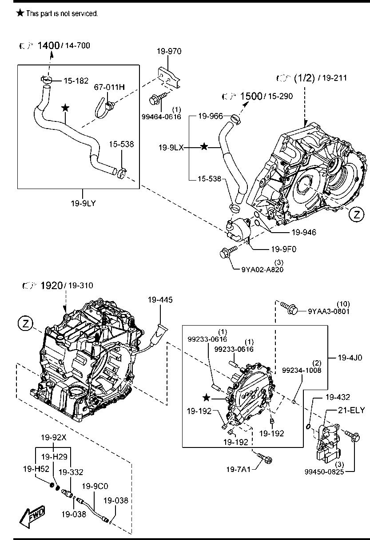 2003 Mazda Mpv Exhaust Diagram
