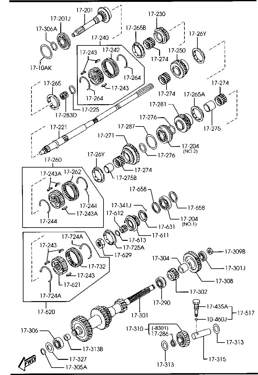 Europe, RX-8 SE 04/2003-, ROTARY-ENGINE & TRANSMISSION