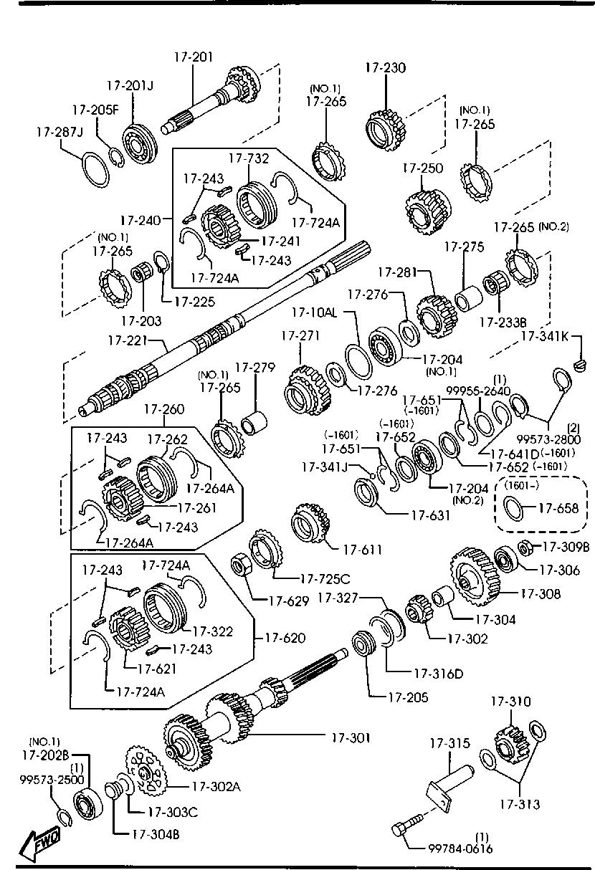 Europe, B2200 UN 02/1999-, DIESEL-ENGINE & TRANSMISSION