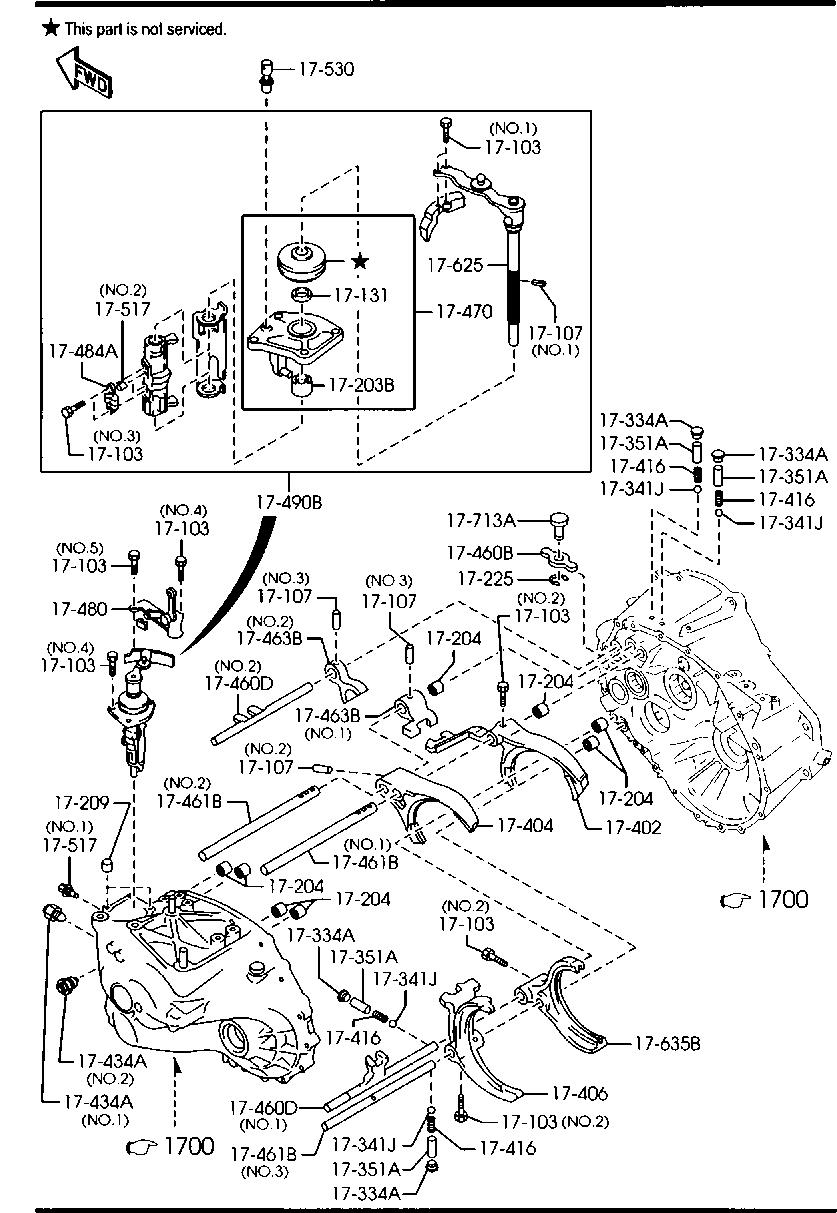 Car & Truck Manual Transmission Parts Mazda A601-17-131