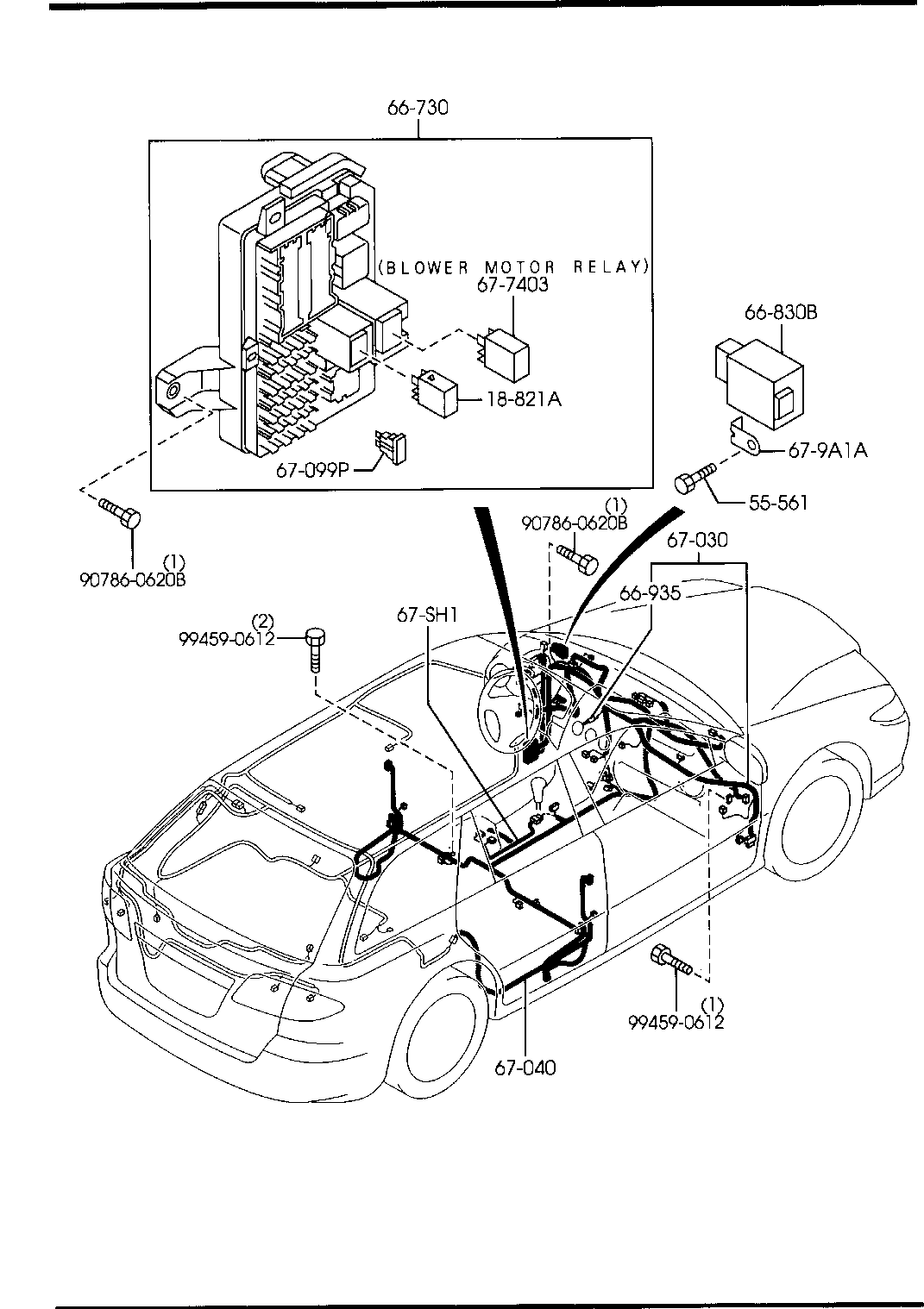 2005 Mazda 6 Wiring Harness