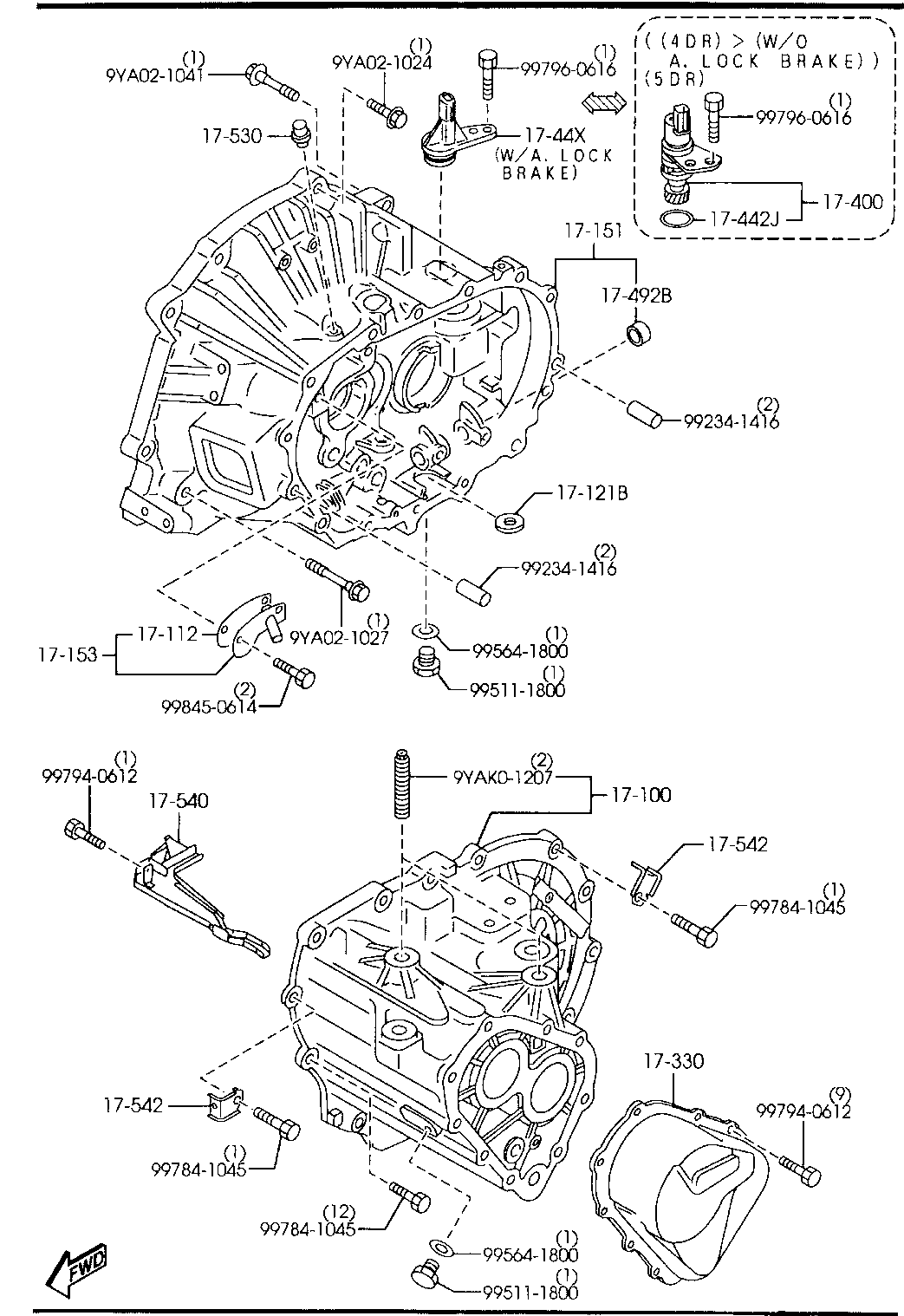 USA, 2004 MAZDA3, GASOLINE-ENGINE 4-CYLINDER TRANSMISSION