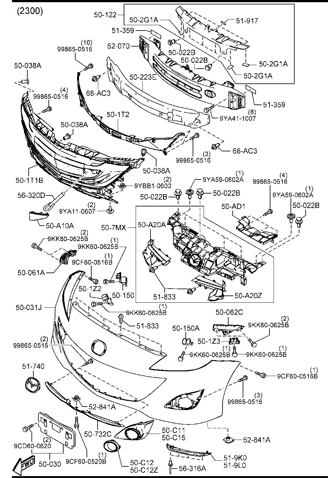 Mazda 3 Body Parts Diagram : Mazda 1 310 Mpa Cold Stamped
