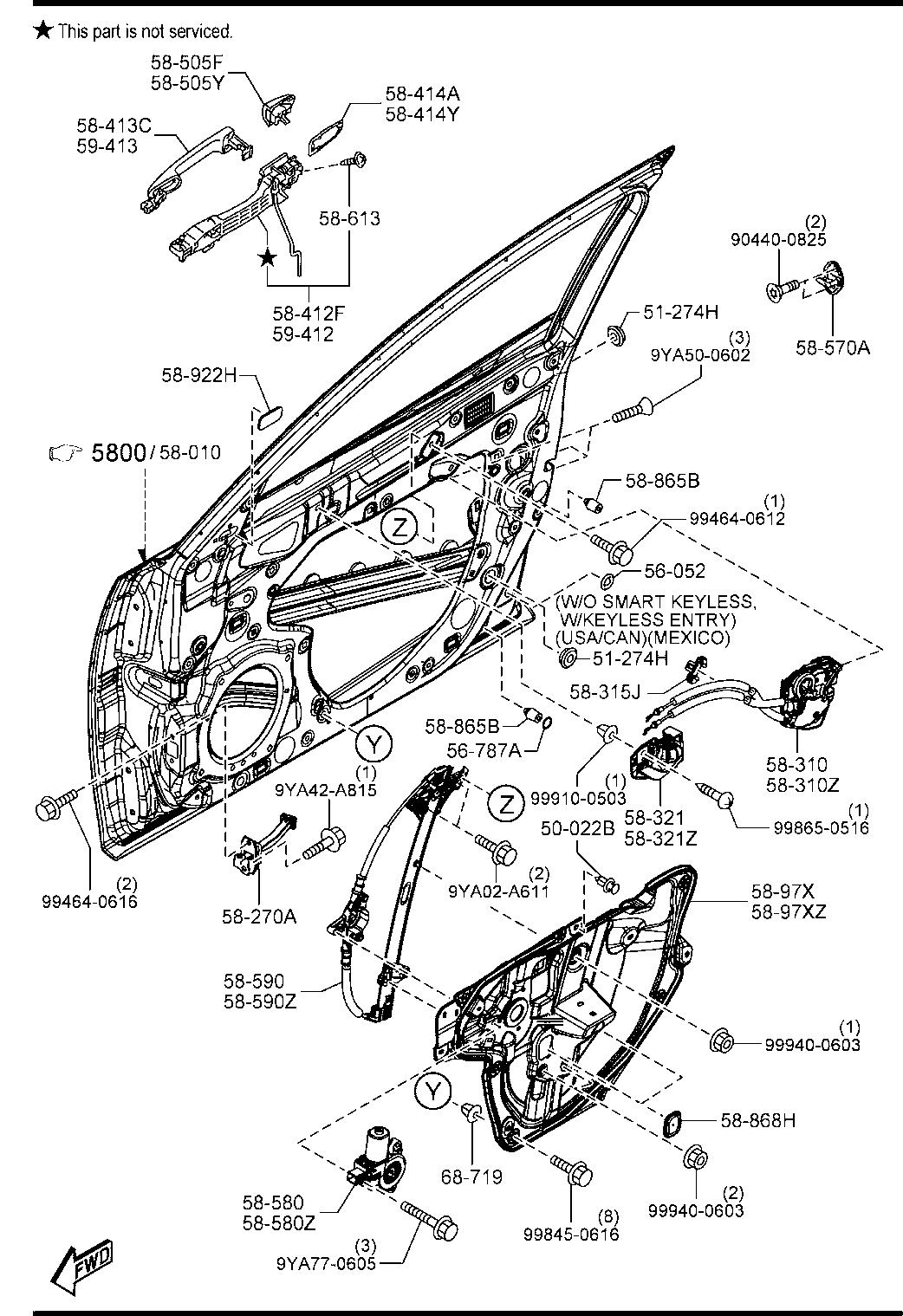 2014 Mazda 3 Body Parts Diagram