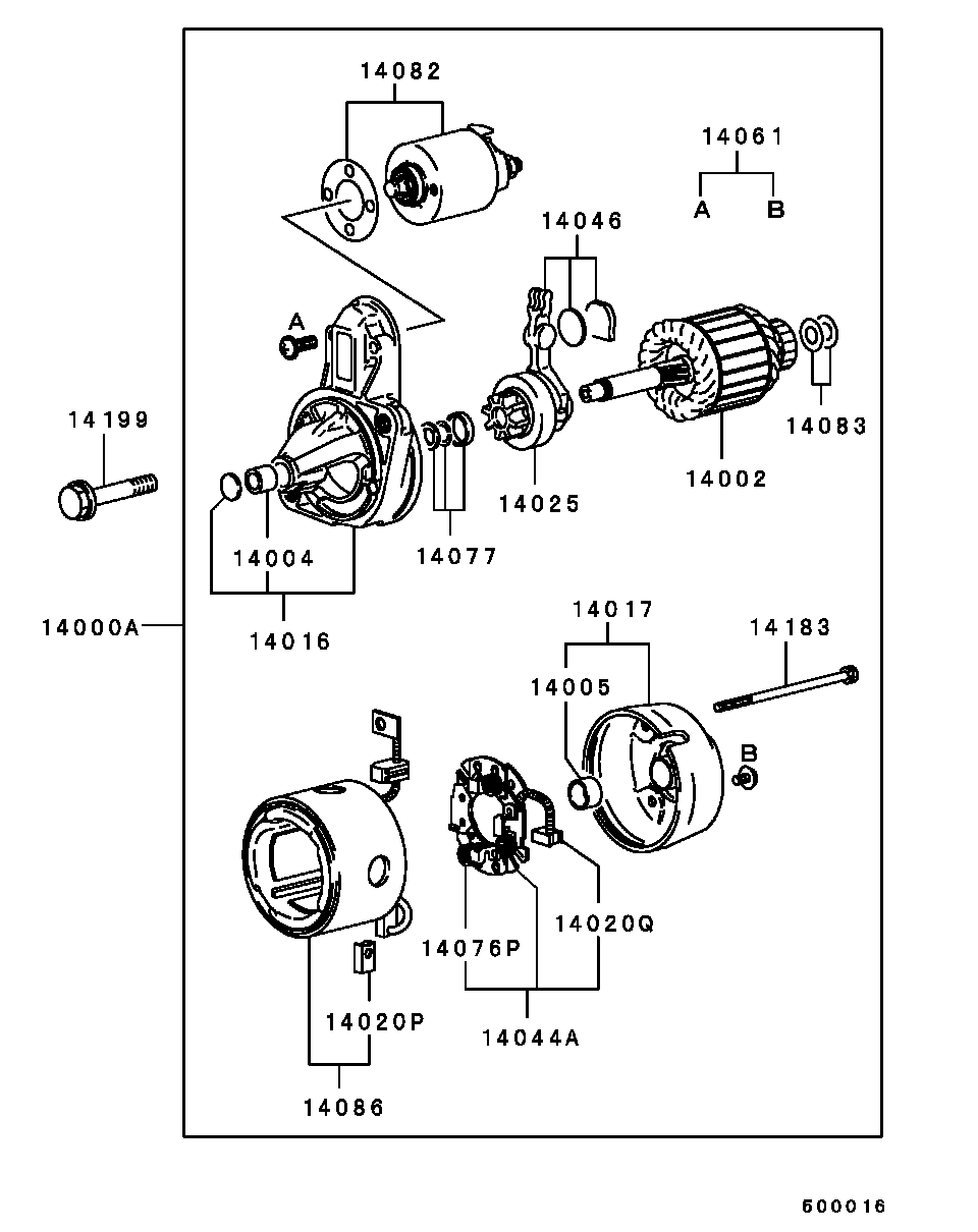 medium resolution of mitsubishi mirage engine diagram starter section
