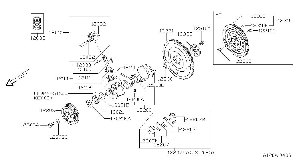 Mechanical Drawing Piston